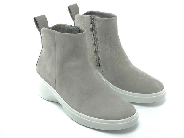 Ecco Soft 7 Wedge Stiefelette Grau
